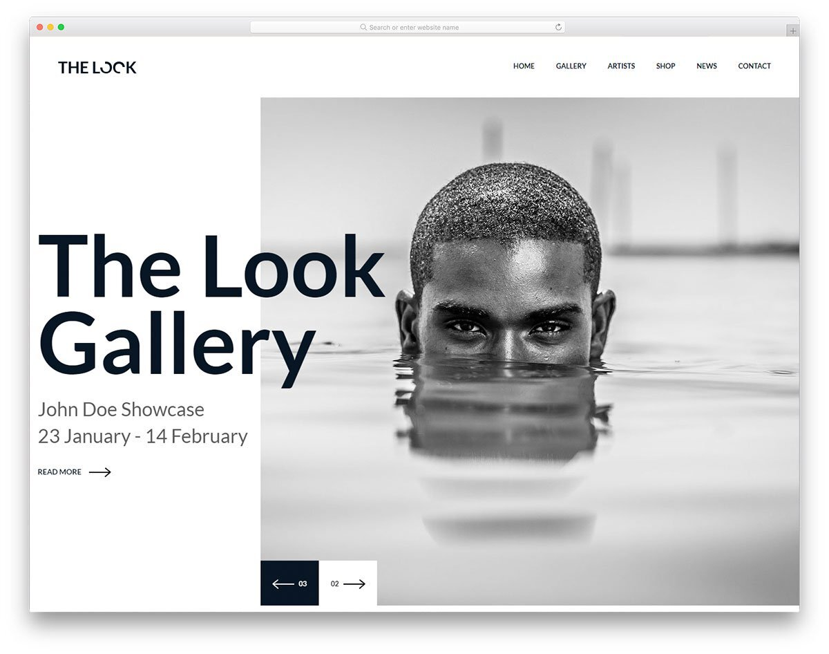 creative photography and portfolio website template