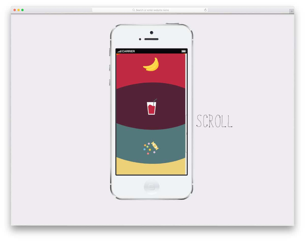 jelly animation effects for mobile menu