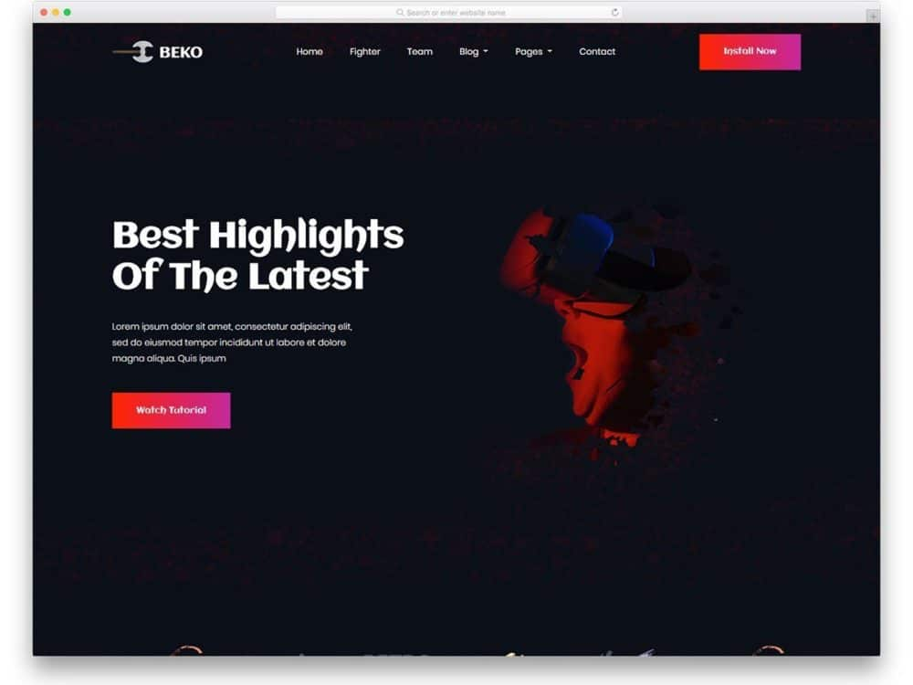 33 Free Gaming Website Templates With Lively Design 2020 Uicookies