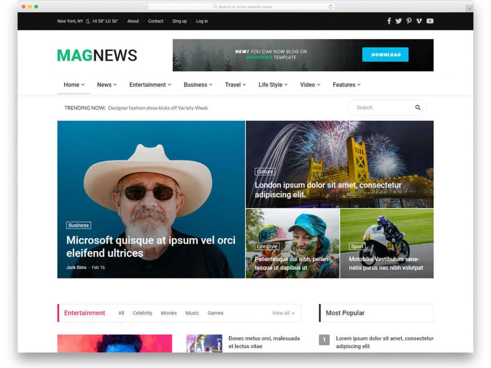 29 Free News Website Templates That Follows Leading News