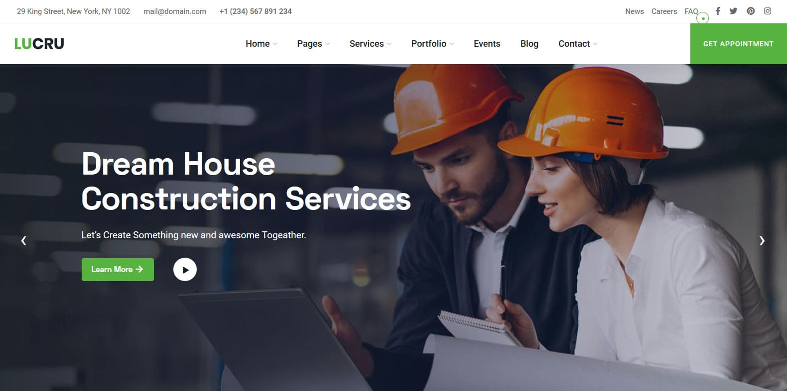 lucru-construction-website-template