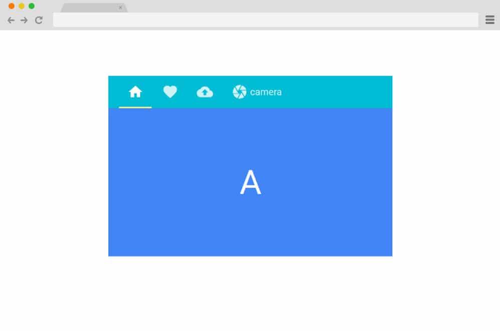 material-css-tab-design