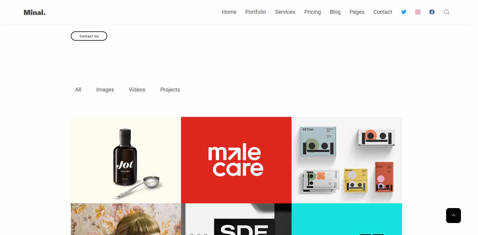 minal-simple-website-template
