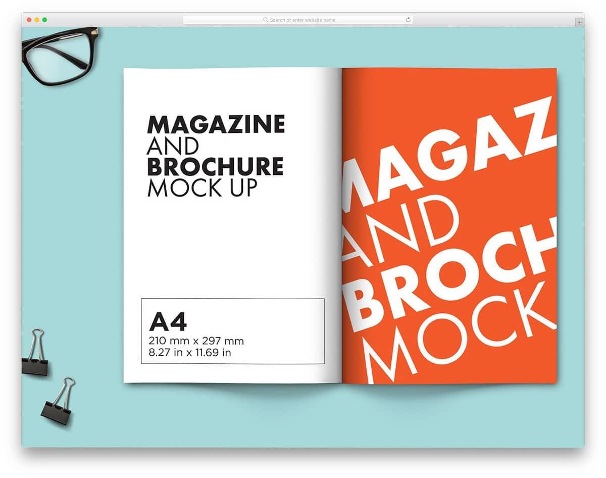 a4 size brochure mockup