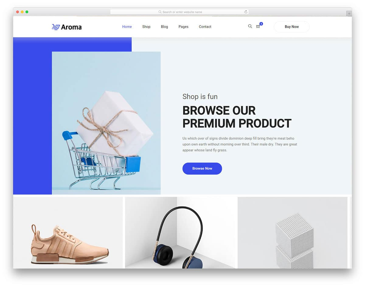website template for electronic stores