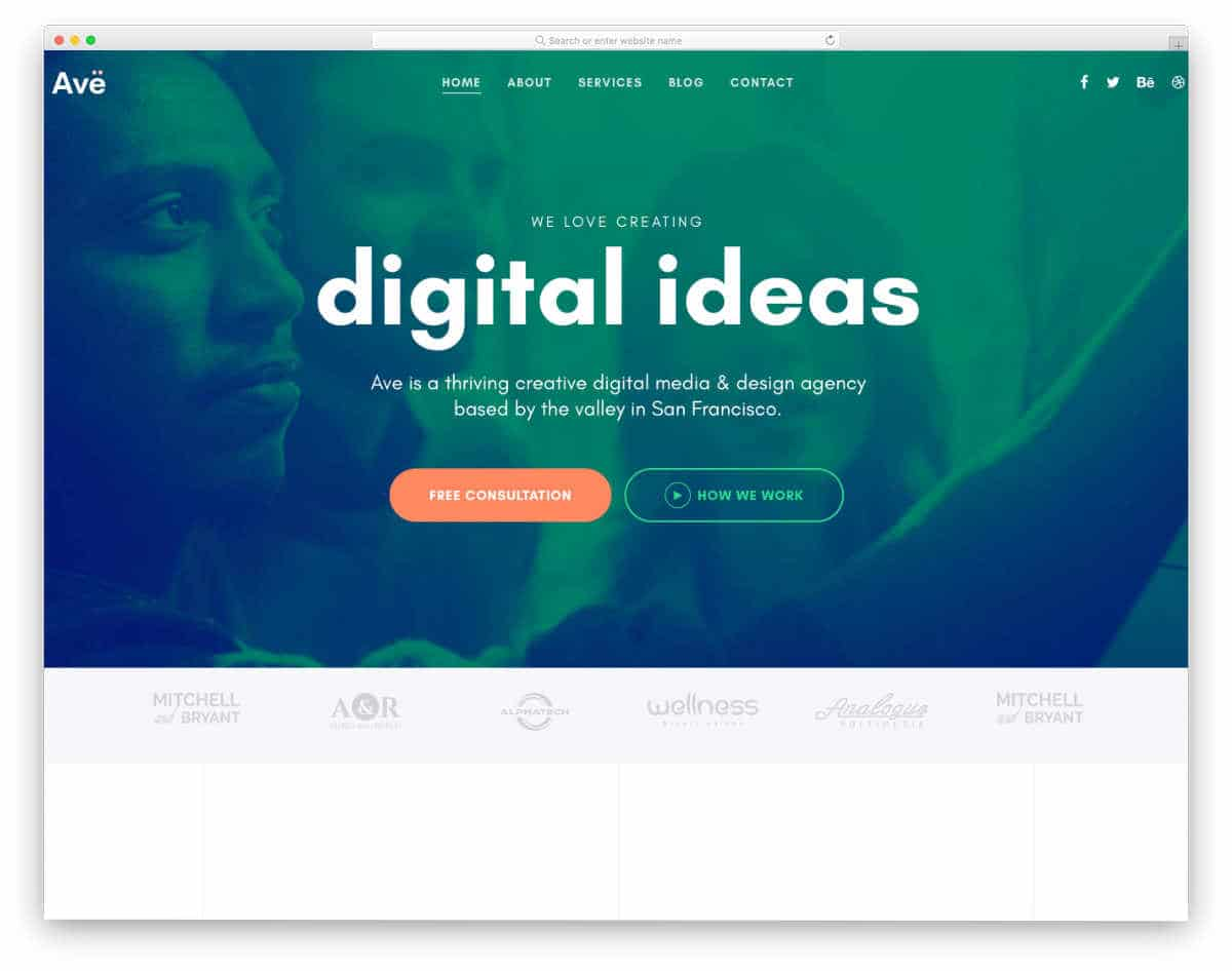 colorful agency theme