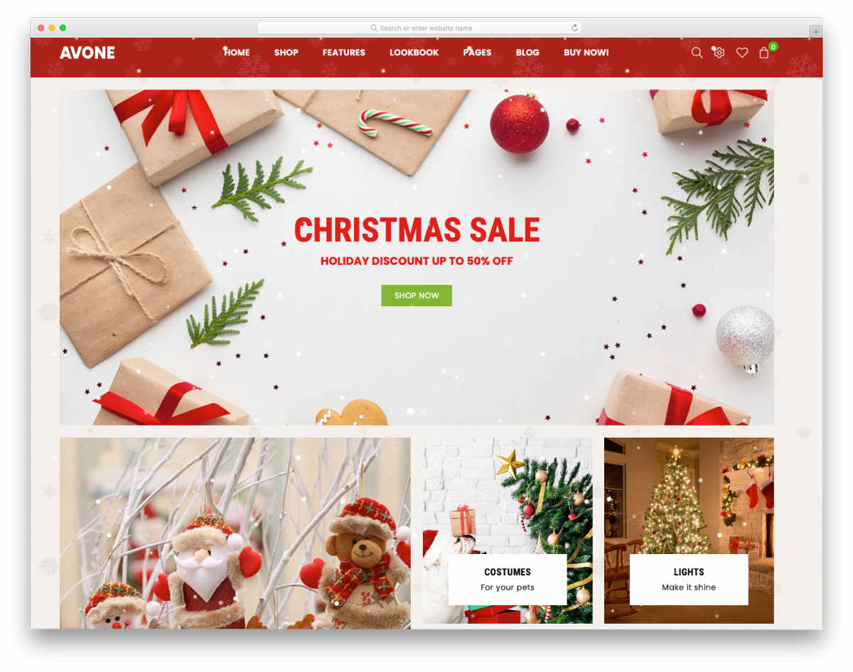 Shopify landing page themes for christmas sales