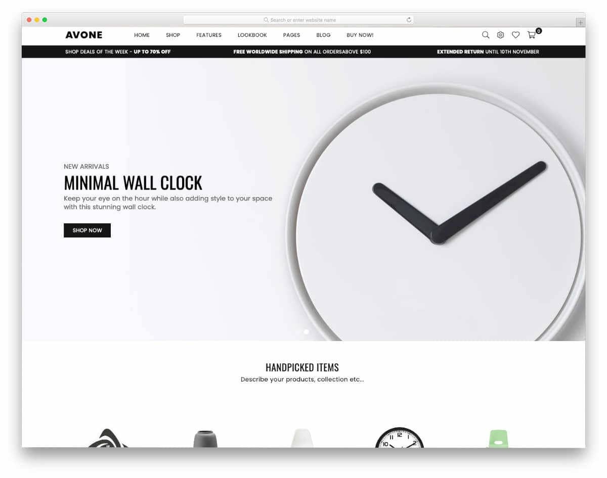 simple minimal Shopify themes