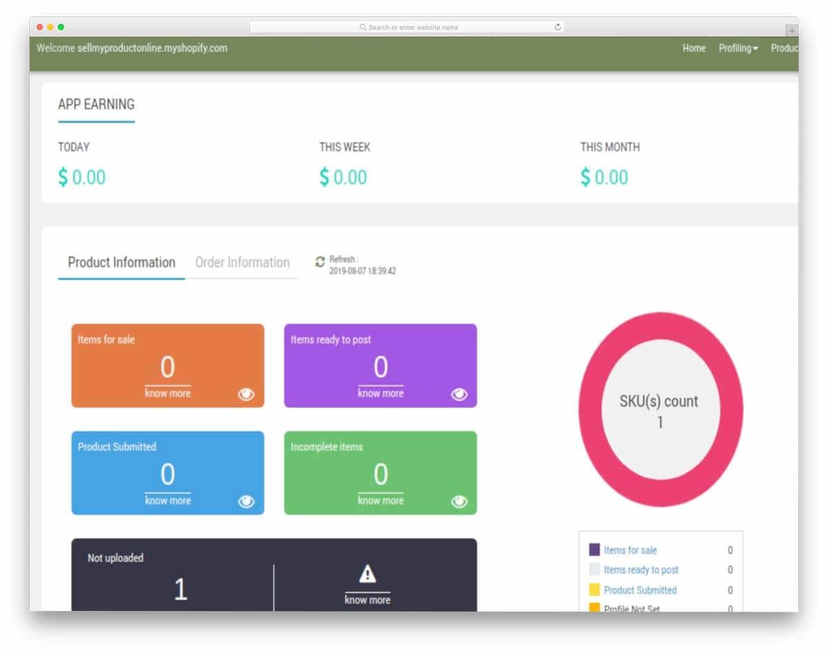 Bonanza Marketplace app screenshot