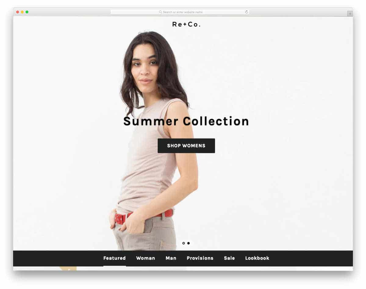 minimal Shopify themes with cool scroll effects