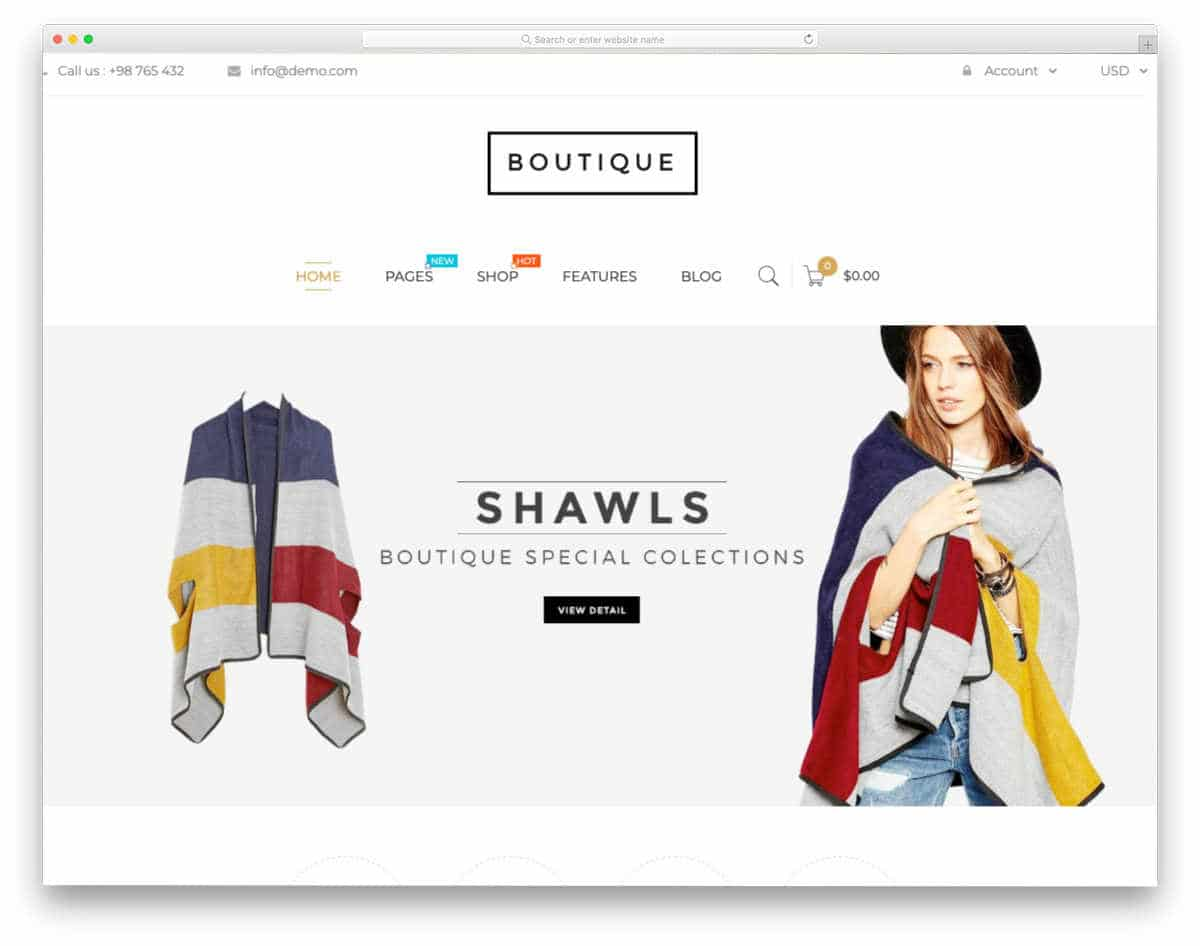 apparel store themes