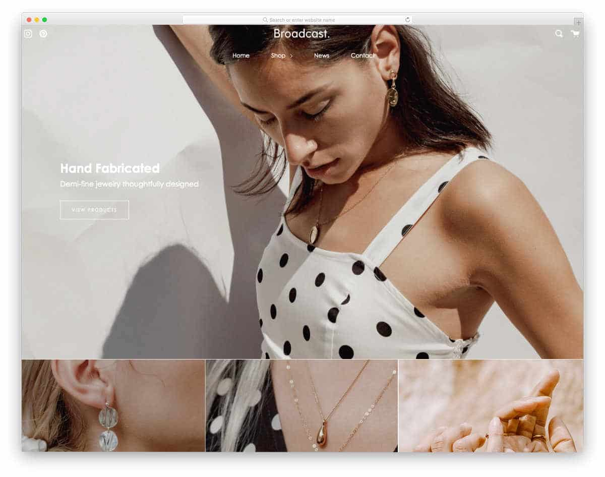 Shopify Parallax Theme for small inventory stores