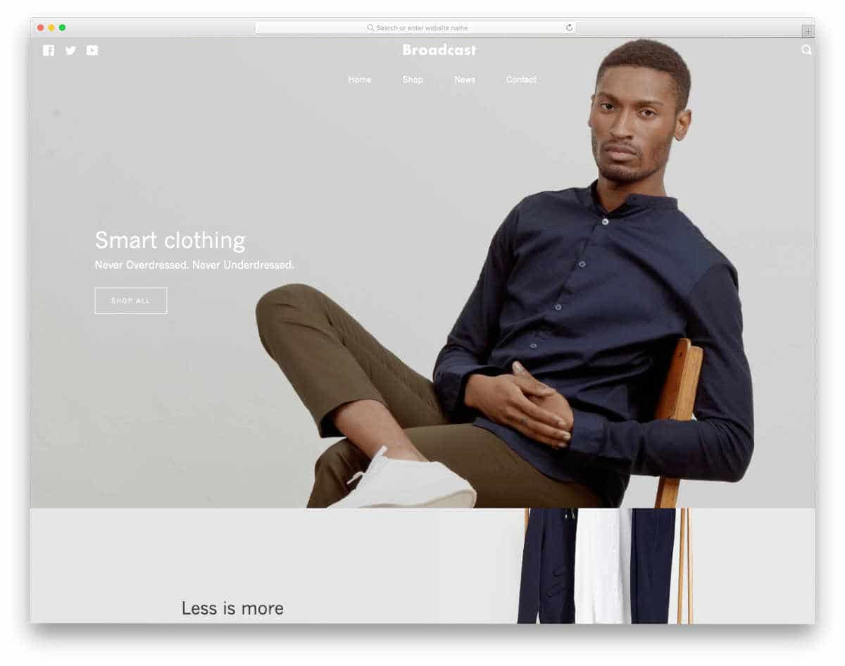simple Shopify themes for brand stores
