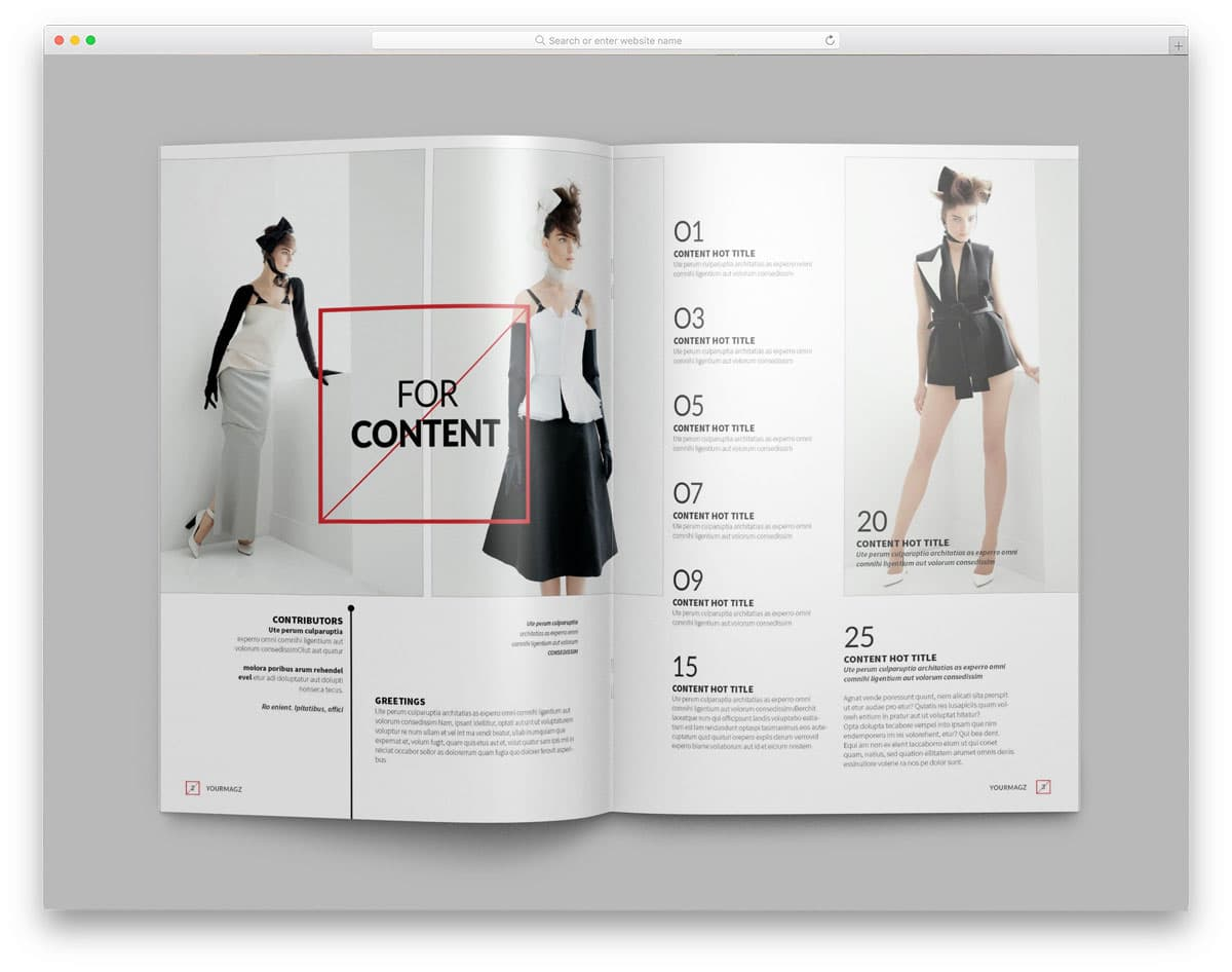 magazine and brochure website template