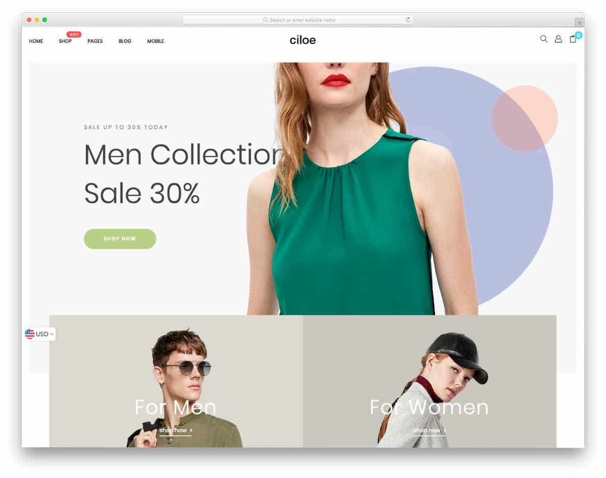 minimal Shopify themes with modish look