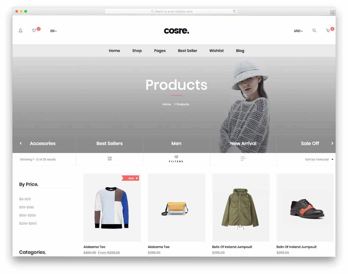 shopify theme for big inventories