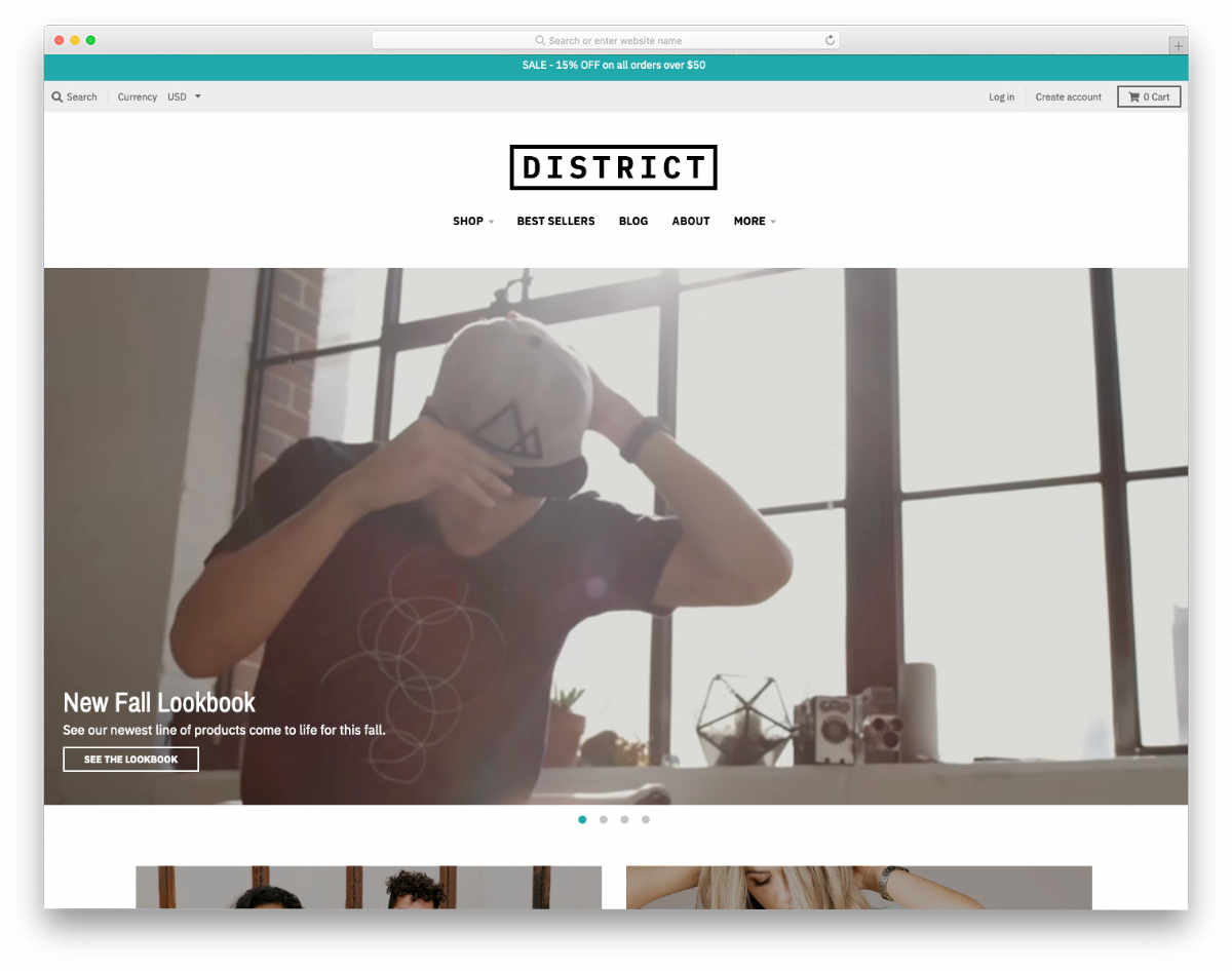 simple Shopify themes with video background
