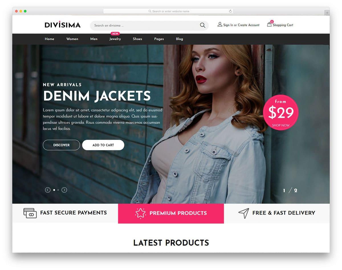 sensibly designed ecommerce website template