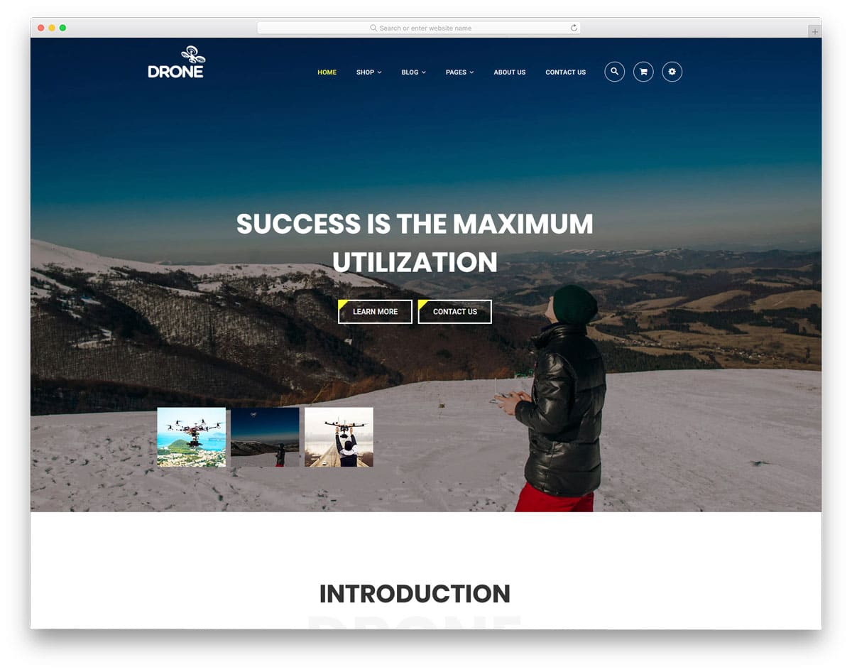 shopify theme for drones