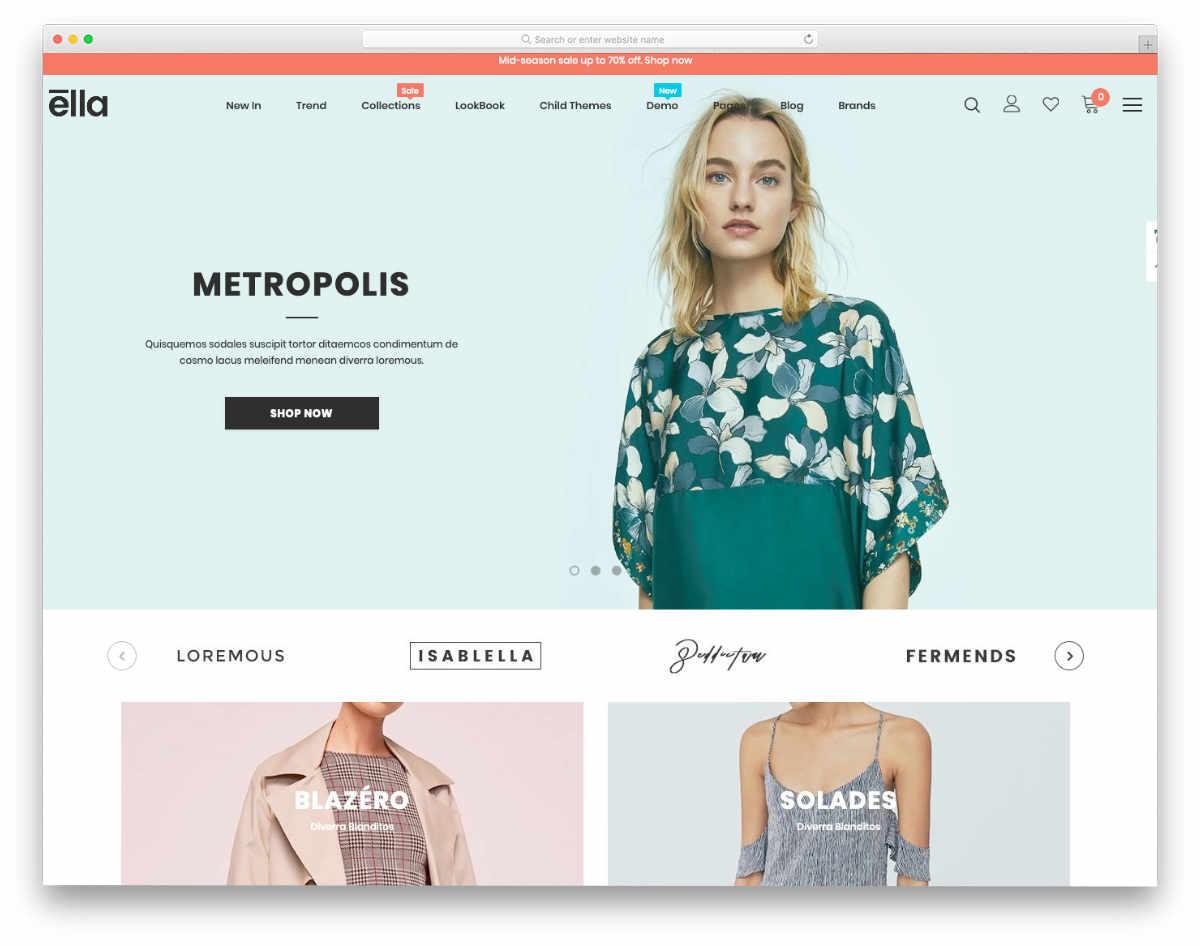 elgant looking shopify theme