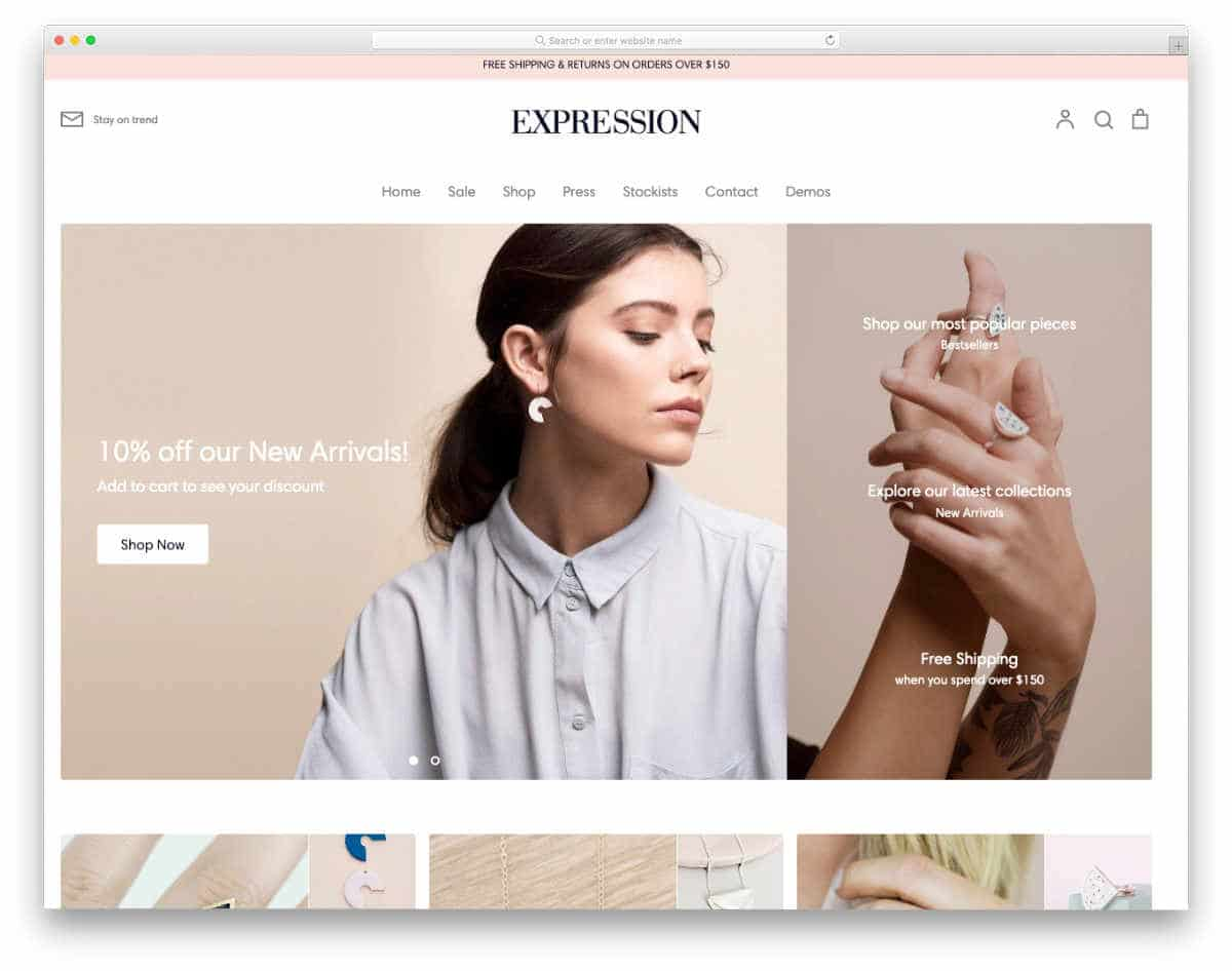 simple Shopify themes with warm color scheme