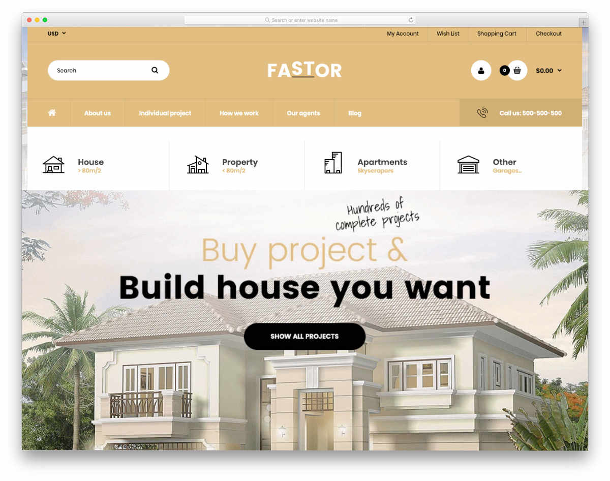 Shopify real estate themes with useful elements and sections