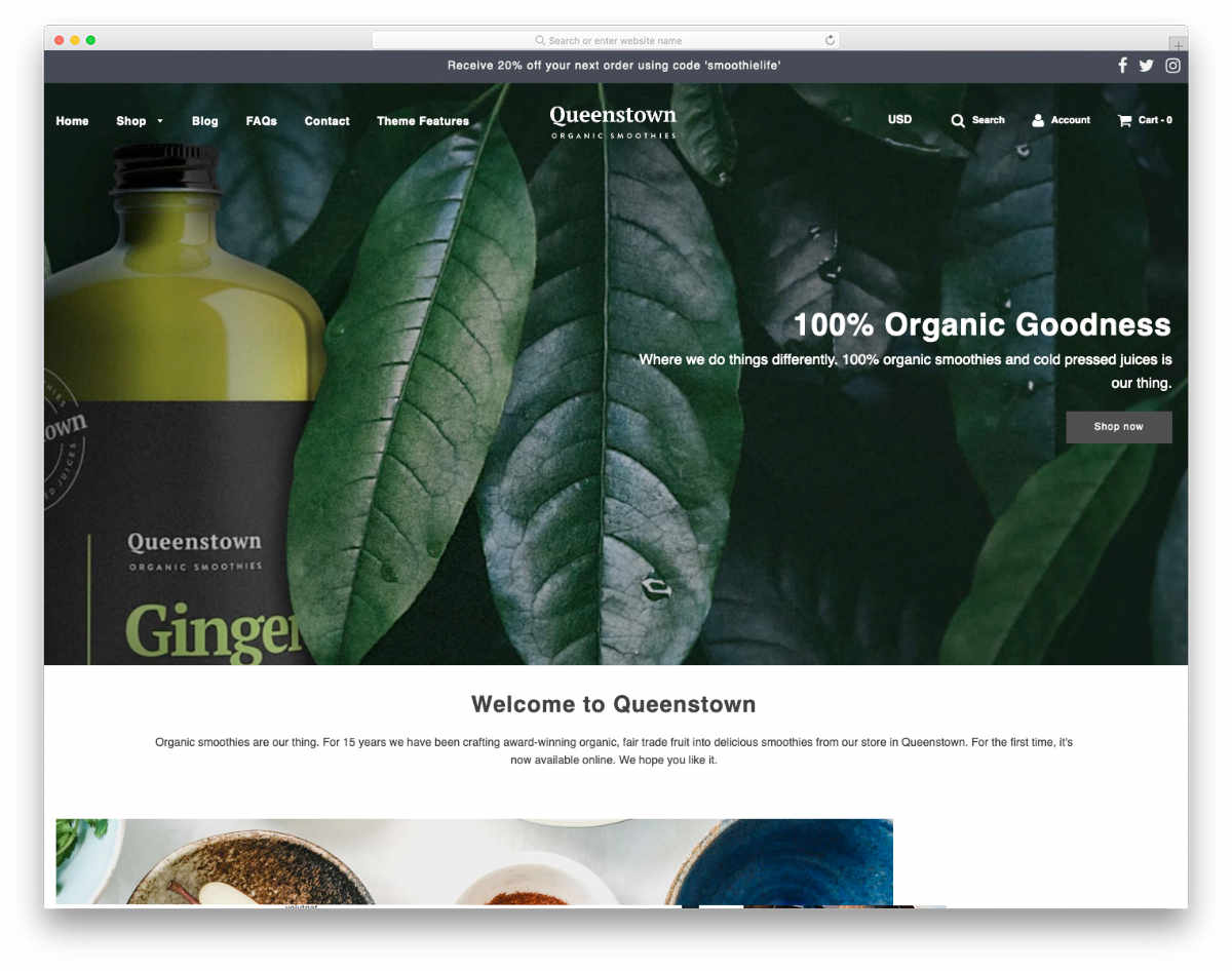 clean and interactive shopify theme