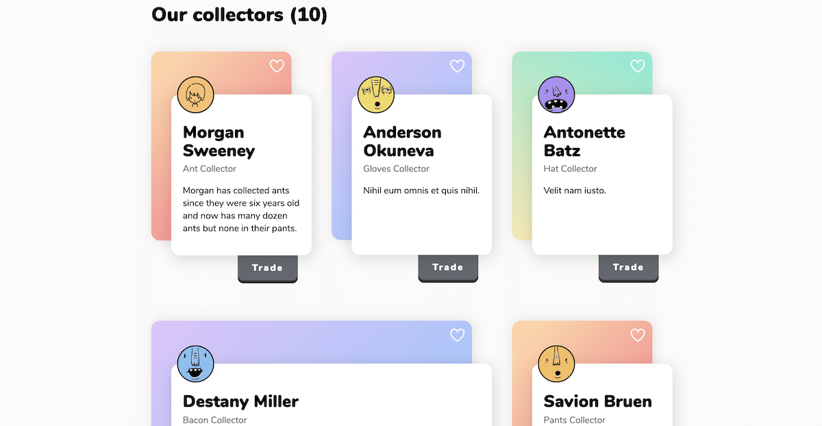 colorful and applicable card design