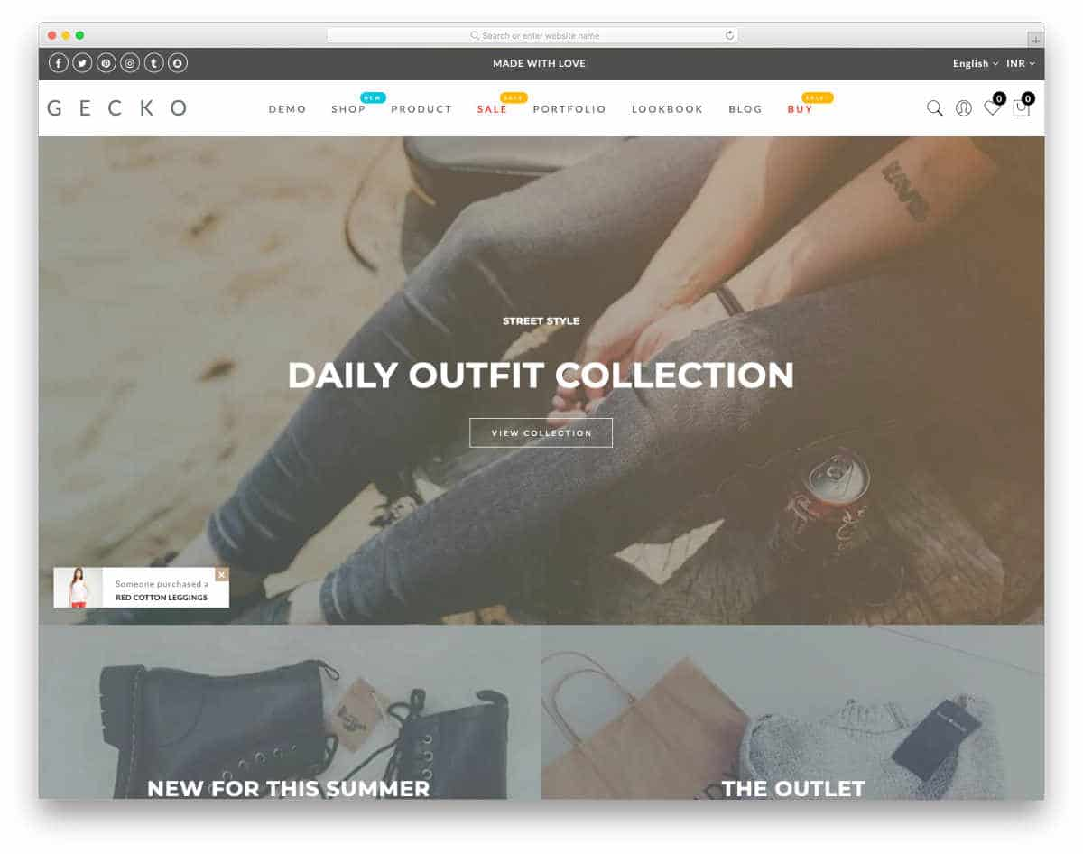 minimalist style shopify theme