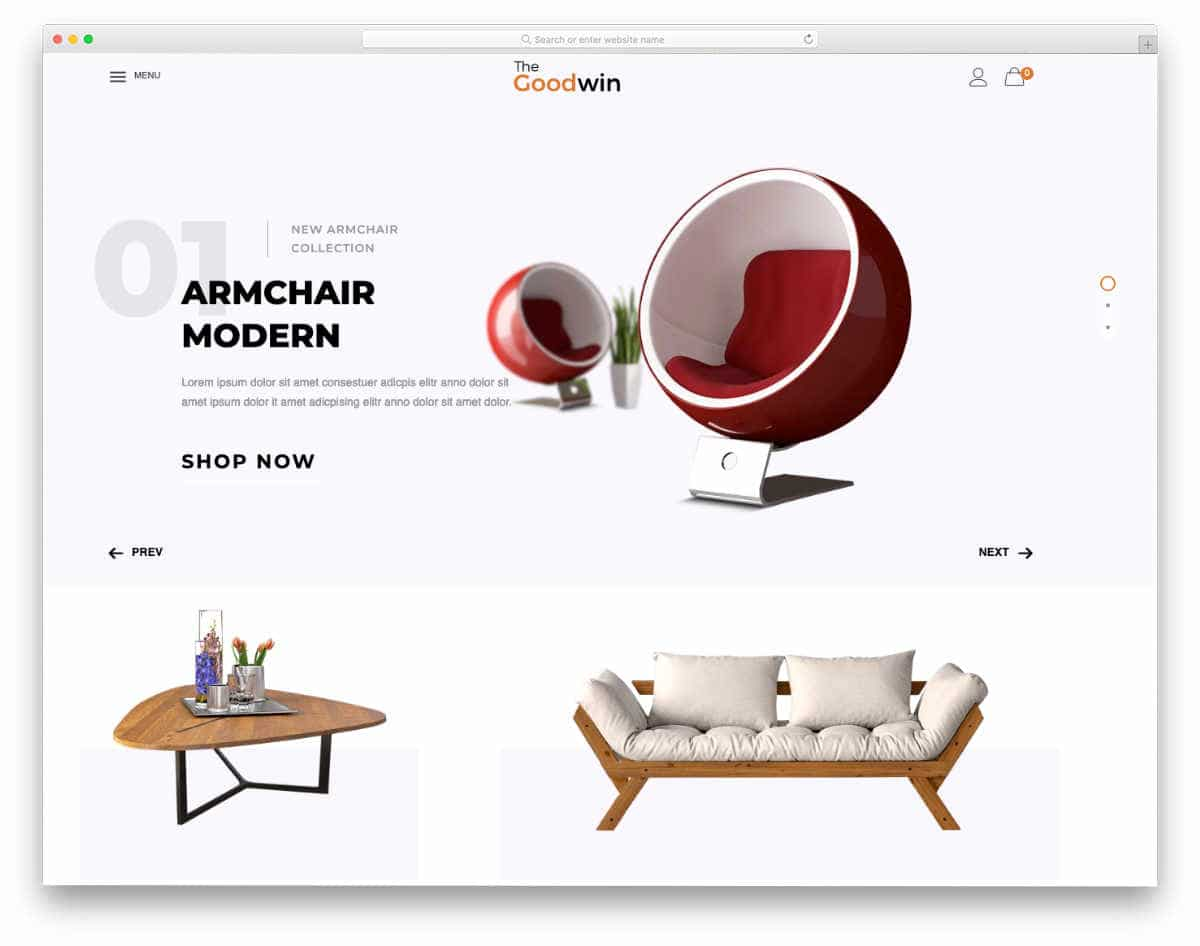 shopify theme for furniture store