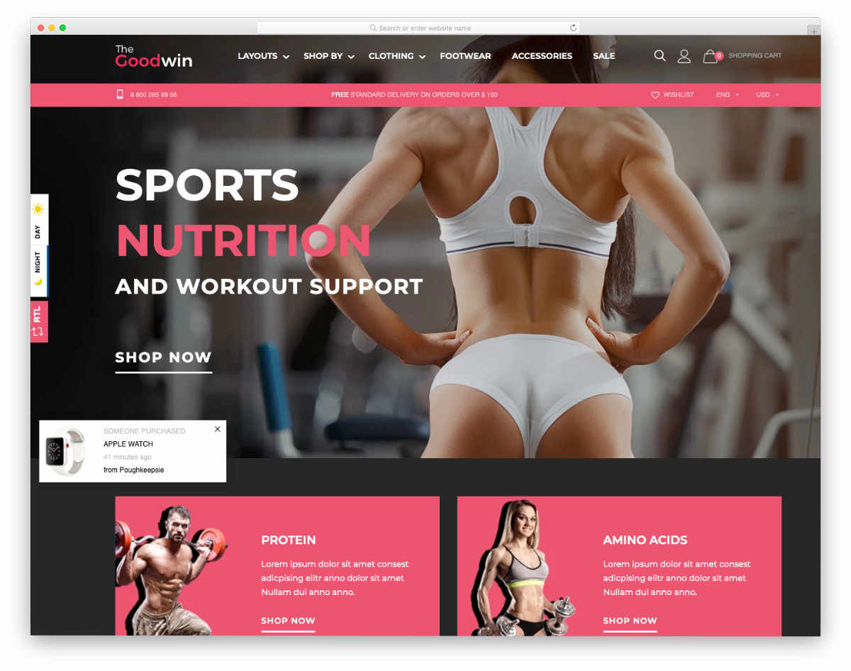 subscription shopify themes for fitness websites
