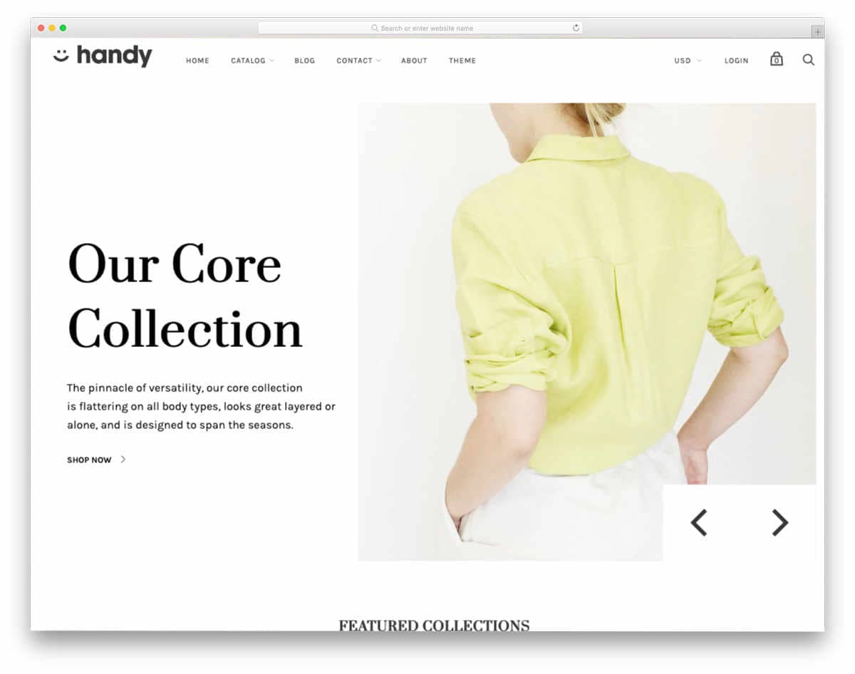 minimal Shopify themes to explain your products