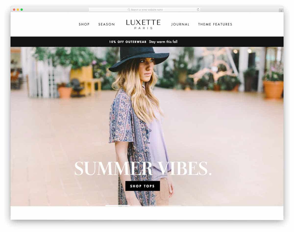 shopify theme for brand stores