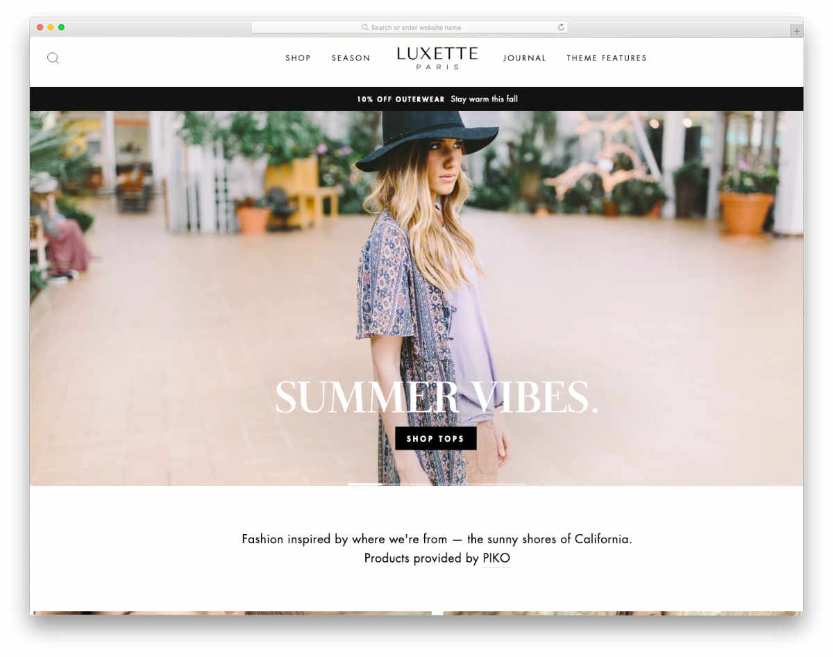 simple Shopify themes with useful features