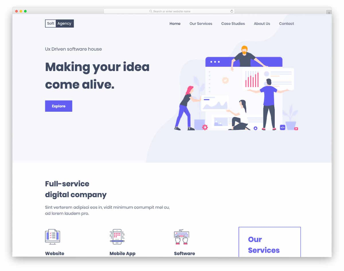 modern interactive agency theme