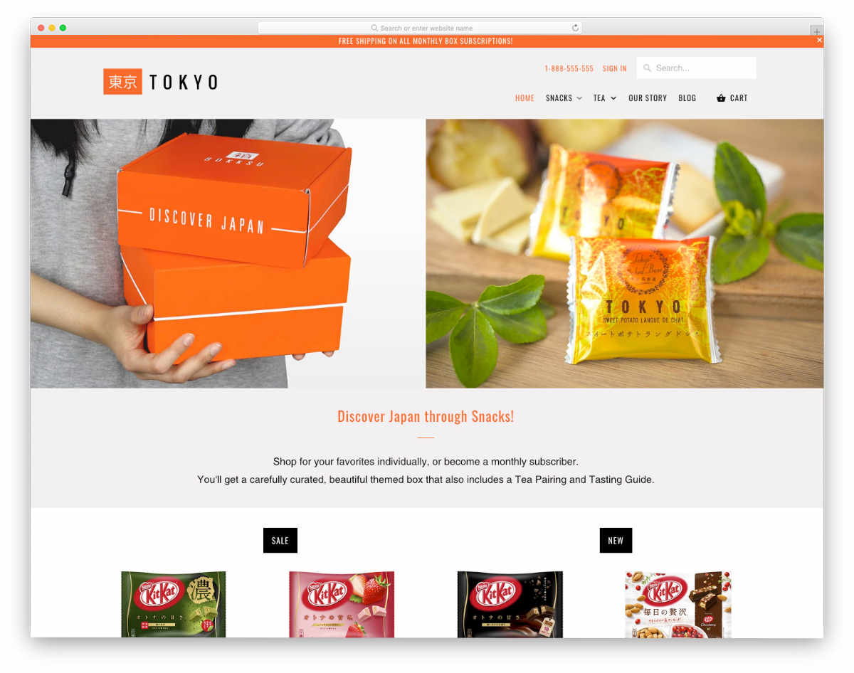 subscription shopify themes for food subscription box businesses