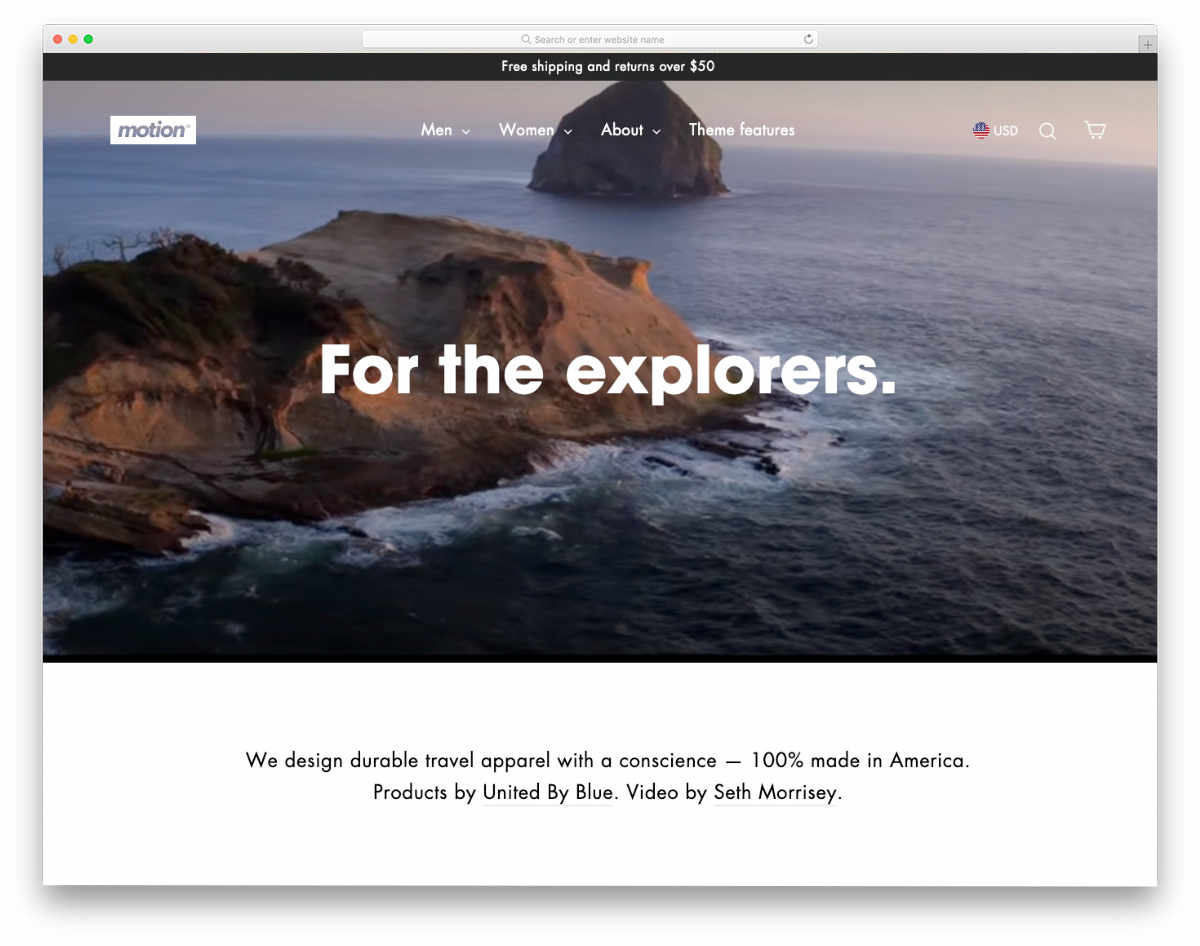 minimal theme with interactive elements