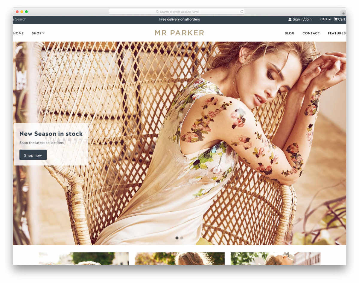shopify theme for fashion stores