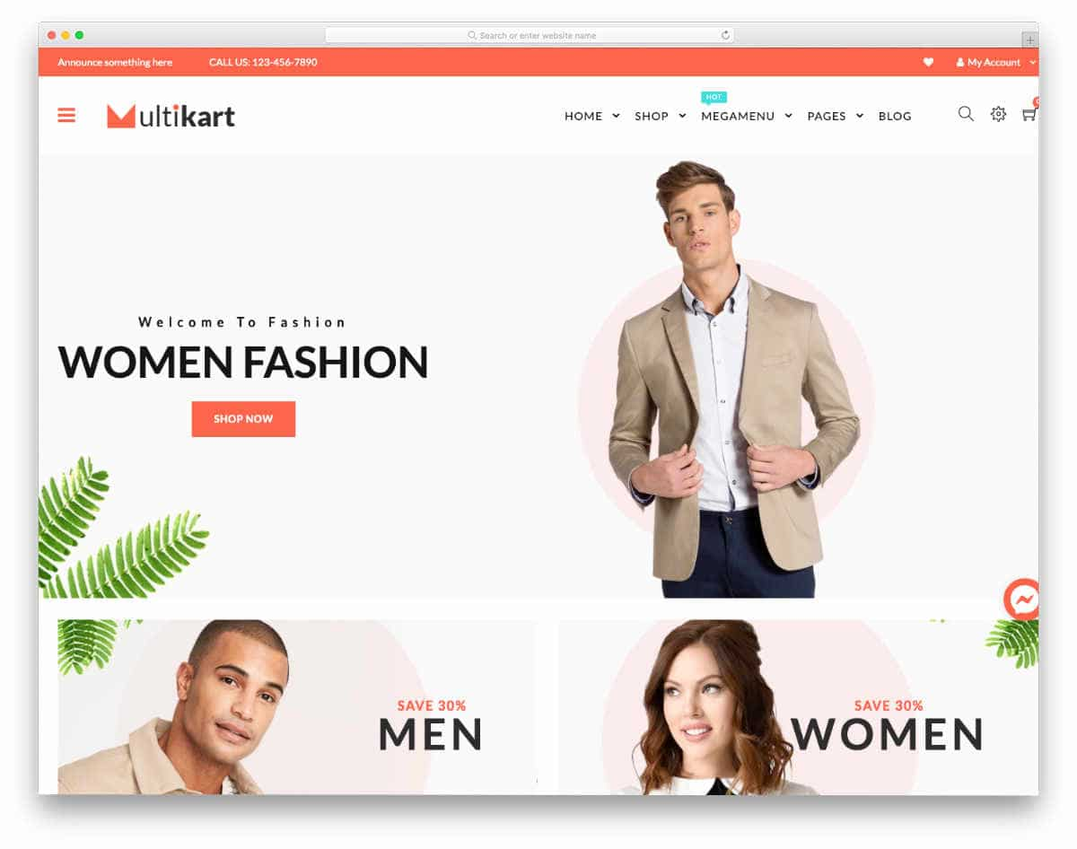 simple Shopify themes with big imageries