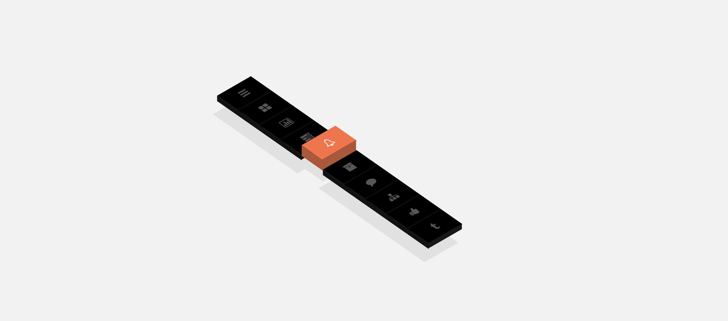 3D vertical navigation bar example