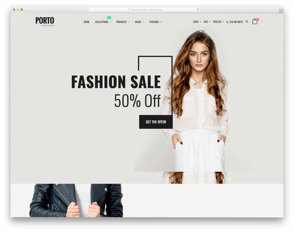 Shopify Parallax Theme for fashion stores