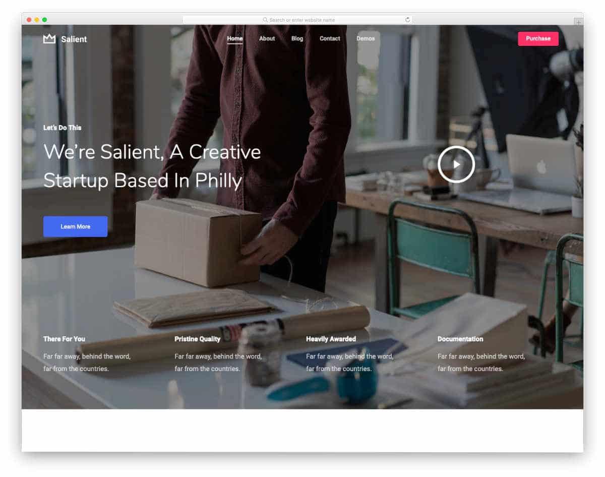 digital agency theme for startups