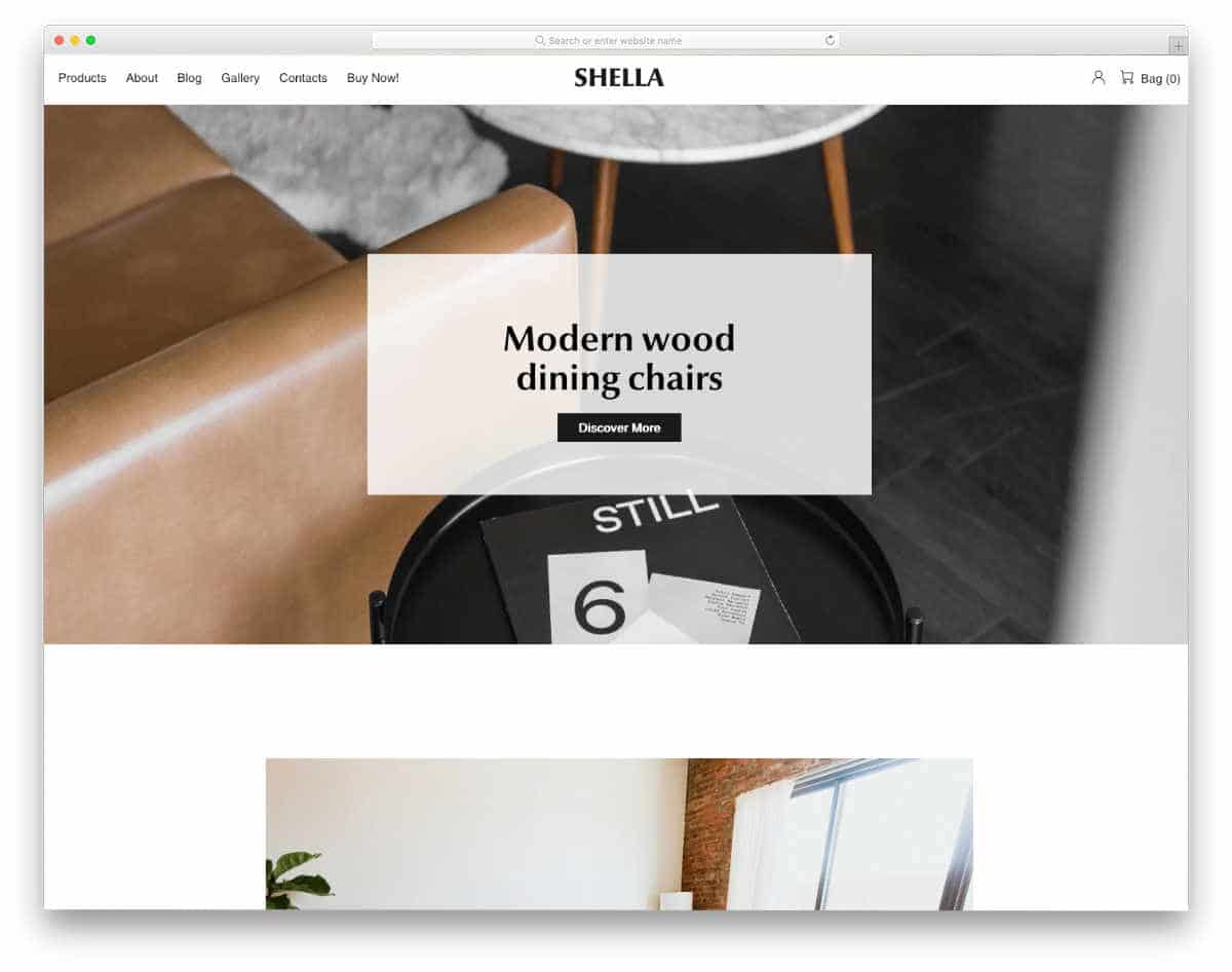 ultra clean and minimal looking shopify theme