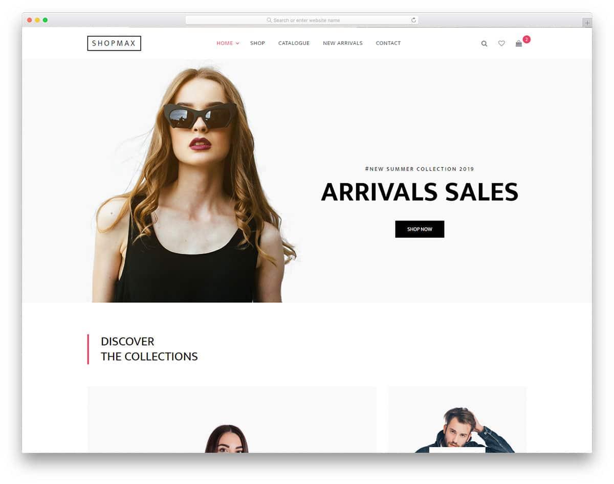 shopmax website template image