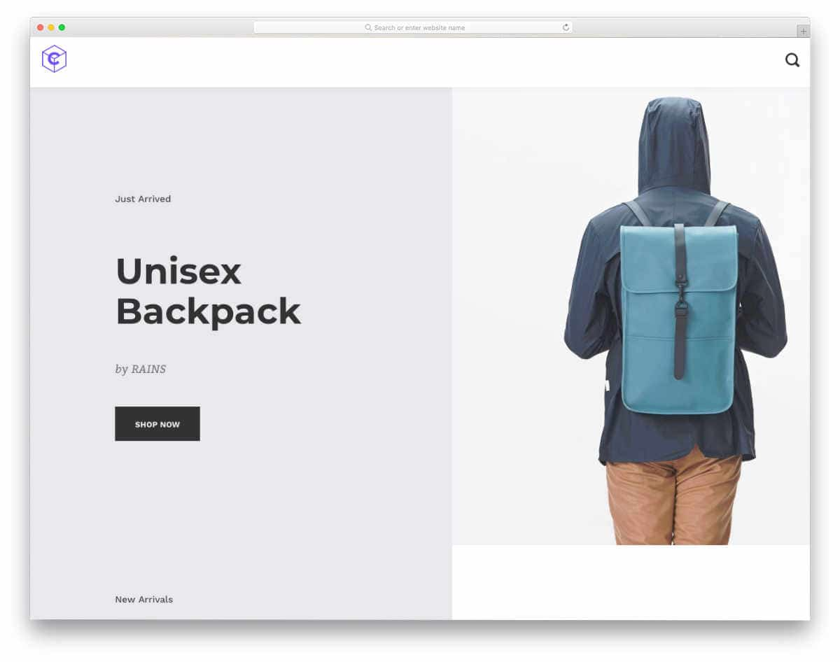 shopify theme with interactive scroll effects