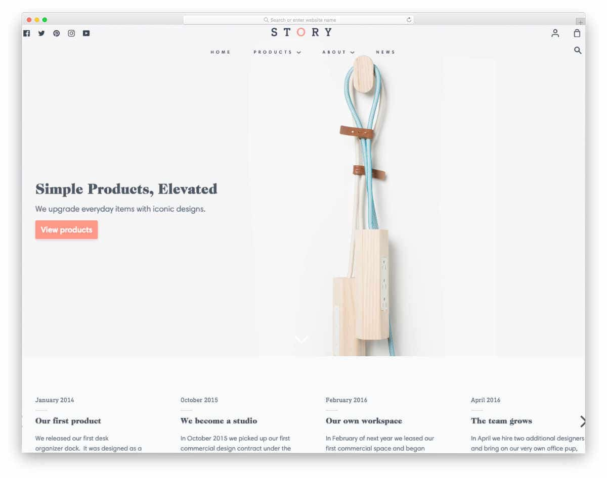 pristine and clean looking Shopify Parallax Theme