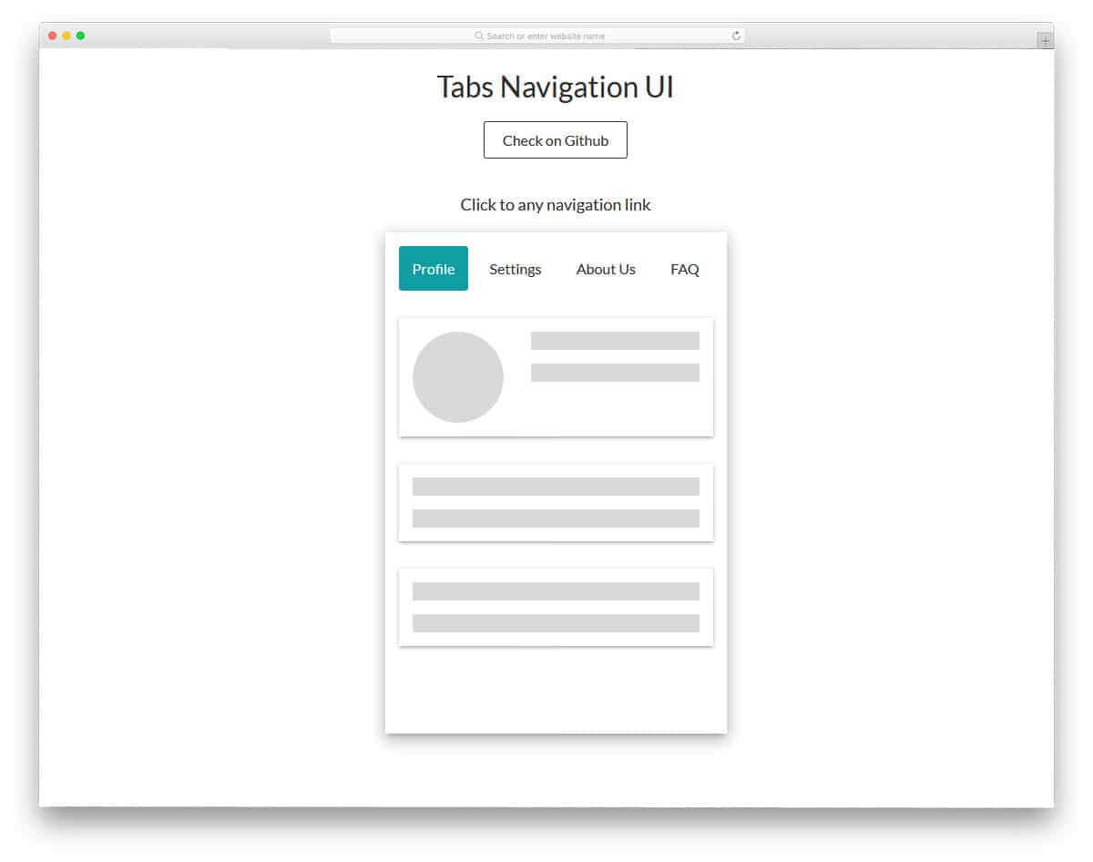 tabs for user interface design