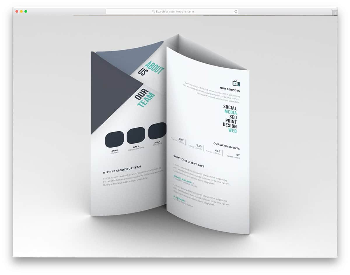 simple and neat brochure mockup