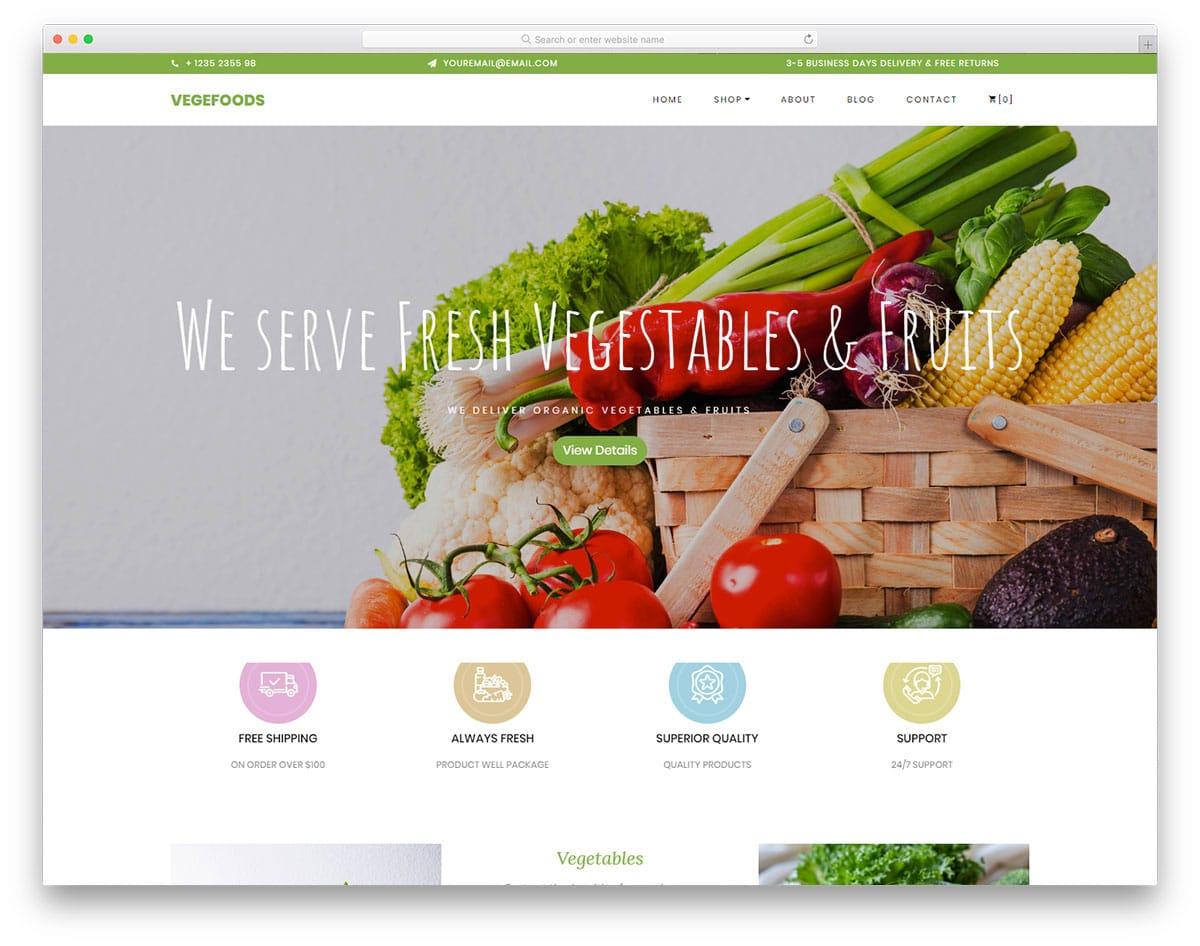 online grocerry website template