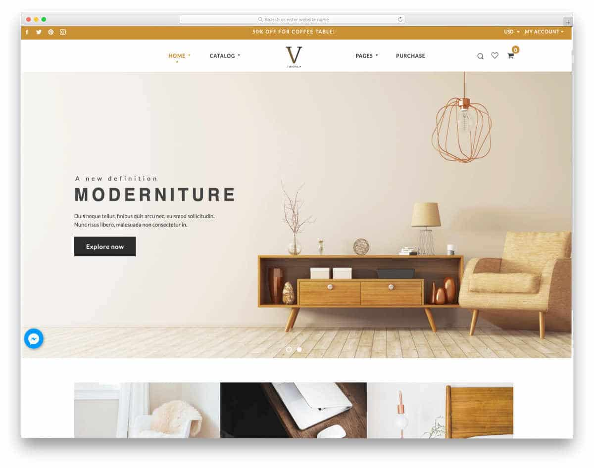 warm looking Shopify real estate themes